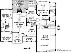 Traditional Style House Plan - 4 Beds 3.50 Baths 2000 Sq/Ft Plan #56 ...
