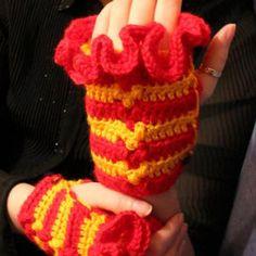 Fingerless gloves, Gryffindor