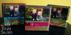 wooden block picture frame