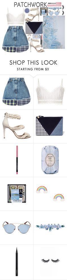 """""""We Don't Have To Grow Up We Can Stay Forever Young"""" by xjustbecausex ❤ liked on Polyvore featuring Natasha Zinko, Zimmermann, Clare V., Maybelline, Fresh, FRUIT, Christian Dior, Sretsis, MAC Cosmetics and Violet Voss"""