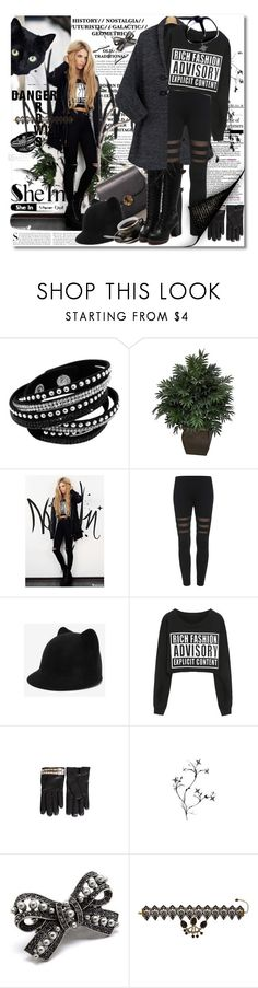 """""""Shein Black Skinny Leggings - Contest with a Prize!"""" by astromeria ❤ liked on Polyvore featuring Kershaw, Nearly Natural, Valentino, Pink Mascara and Child Of Wild"""