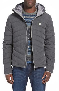 Free shipping and returns on Bench 'Homage' Quilted Jacket at Nordstrom.com. A hooded jacket textured with slick chevron quilting is an ideal choice for all-season layering, thanks to a DWR-treated outer surface and a taffeta-lined interior insulated with artificial down.