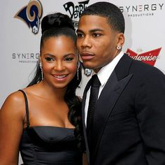 Singer Ashanti and former boyfriend, Rapper Nelly
