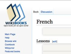 Wikibooks (French lessons and books; website in English)