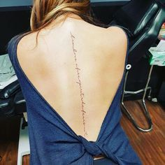 70+ Spine Tattoo ideas for women from instagram
