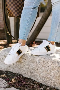 It's no question that shoes are one of my favorite things to buy, ever. I mean I have a basement shoe closet that is brimming… Fashion Brand, Boho Fashion, Womens Fashion, Fashion Bloggers, Cheap Womens Shoes, Tennis Shoes Outfit, Dressed To Kill, Painted Shoes, Comfortable Shoes