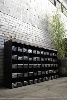 + #industrial #sorting_boxes #metal #black #wood #factory #furniture #interior #concretel