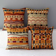 Set of 4 Folk Style Africa Pattern Cotton Throw Pillow Home Sofa Chiar Seat Backrest Cushion 2018 - €24.98