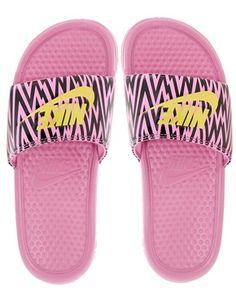 Nike Benassi Pink Printed Sliders