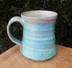 WoodFired Turquoise Sky Coffee Mug