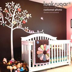 Bird Tree Wall Decal by looksugar - such a cute idea for a baby girls room for age of 8 to 12 years
