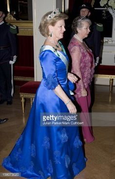 Febr. 2007 - Queen Anne-Marie Of Greece Attends King Harald Of Norway'S 70Th Birthday Celebrations In Oslo.Gala Dinner & Dance At The Royal Palace.