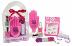 Spa Manicure Tween Gift Set, Lotion, Nail Polish, Stickers Kit by TCFG. $14.99. Keep your hands looking dazzling.. Includes Berry Blitz hand lotion to beautify your hands.. Great tween gift!. Fun sleep over activity!. Includes Nail Stickers, Glitter emery board, and 2 Glitter polishes to make your fingers sparkle.. This set includes all you need to keep your nails looking fine! Gift set includes - Berry Blitz hand lotion, glitter emery board, nail stickers, and 2 bottles of gli...