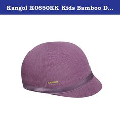 Kangol K0650KK Kids Bamboo Deeto Hat, Crocus-S. The Ergo Deeto shape is a minimal, sculptural and unmistakably feminine silhouette with a seamless and curved crown-to-peak transition, now minaturized in a very cute girls' shape, with a round crown and a tonal ribbon band and bow across the top of the stingy peak. Bamboo yarn is a soft handle, environmentally friendly yarn that has become a staple in the Kangol range.