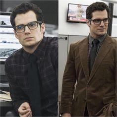 """New stills of Henry Cavill as Clark Kent.  Henry in glasses just makes my heart skip a few beats! He looks gorgeous!  #henrycavill #clarkkent #superman…"""