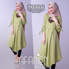 Afanien Tunik Avocado www. Batik Fashion, Hijab Fashion, Fashion Dresses, Blouse Batik, Muslim Women Fashion, Tunic Designs, Casual Hijab Outfit, Kurti Designs Party Wear, Trendy Dresses