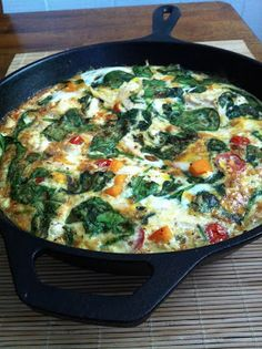 chicken veggie frittata for make-ahead clean eating breakfasts