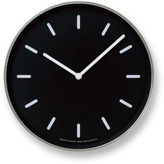 Mono Wall Clock in Black w/ Lines design by Lemnos ($150) ❤ liked on Polyvore featuring home, home decor, clocks, decor, filler, furniture, ships clock, black wall clock, black clock and wooden wall clock