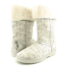 Coach Rain Boots   COACH Nikole Boots Winter Shoes Silver Womens