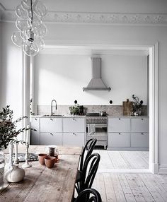 gray kitchen cabinets. / sfgirlbybay