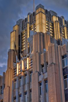Discover Niagara Mohawk Building in Syracuse, New York: This Art Deco fortress in upstate New York gives Manhattan's vaunted examples of the style a run for their money. New York Architecture, Beautiful Architecture, Architecture Details, Modern Architecture, Building Architecture, Art Deco Buildings, Unique Buildings, Amazing Buildings, Arte Art Deco