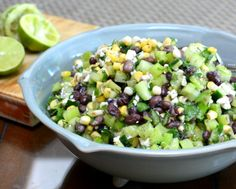 Black Bean & Corn Salad, another great summer salad recipe ♥ AVeggieVenture.com.