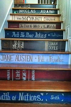 Doing this to our stairs. Photo from http://thisiswhereioftendrown.tumblr.com