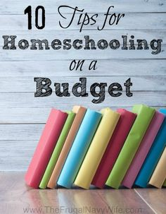 10-Tips-for-Homeschooling-on-a-Budget -- I love homeschooling my kids and I will admit when we started homeschooling I went WAY overboard on everything I thought we NEEDED. Half way threw the year we hadn't used half of it. Heck 2 years in and some of it we still have yet to use! While we have settled in to a curriculum we love it isn't cheap. If you are blessed to be able to homeschool or think you possibly can't because of the cost factor I wanted to share some of my best tips for…