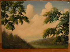 "Bid on another wonderful painting from Stockton Studio. This painting is called ""Down The Valley"".   Retail Value: $95.00"