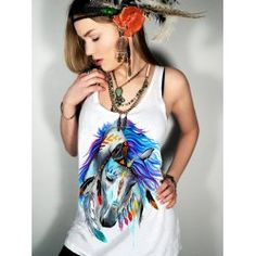 SHARE & Get it FREE   Stylish Scoop Neck Horse Pattern Women's Tank TopFor Fashion Lovers only:80,000+ Items • FREE SHIPPING Join Nastydress: Get YOUR $50 NOW!