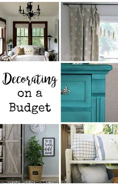 Decorating on a budget tip!! Plus, or weekly link party. #decorating #budget #frugal #thrifting #DIY #decor #linkparty