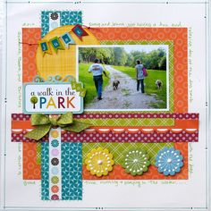 My Creative Scrapbook Kit Club with exclusive sketch and add-ons! Dog Scrapbook, Scrapbook Sketches, Scrapbook Page Layouts, Scrapbook Paper Crafts, Scrapbook Cards, Scrapbooking Ideas, Digital Scrapbooking, Picture Layouts, Echo Park Paper