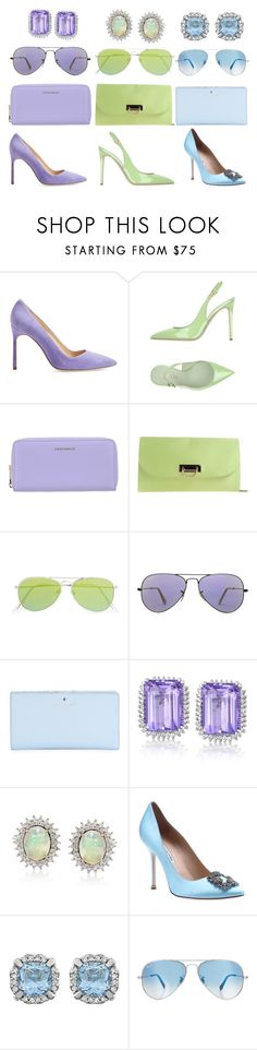 """""""Easter Eggs For Women"""" by thecharmingmagnolia-etsy ❤ liked on Polyvore featuring Manolo Blahnik, Le Silla, Coccinelle, Chiara P, Revo, Ray-Ban, Kate Spade, Citra and Ross-Simons"""