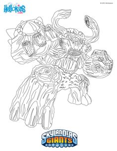skylanders chompy coloring pages - photo#5