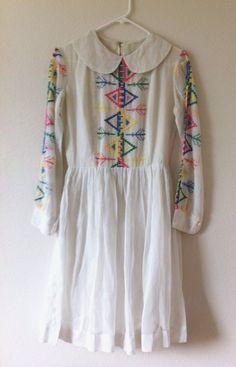 Vintage Scandinavian Tribal Dress