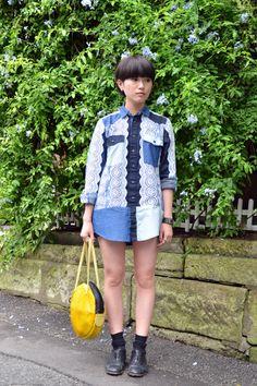 Area6:Harajuku,Tokyo  Name:uca  Shirt:NOZOMI ISHIGURO  Shoes:MARNI  Bag:KAO KAO  Favorite shops:H.P.FRANCE