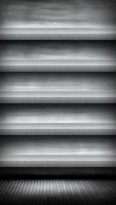 !!TAP AND GET THE FREE APP! Shelves Homescreens Grey Metallic Simple HD iPhone 5 Wallpaper