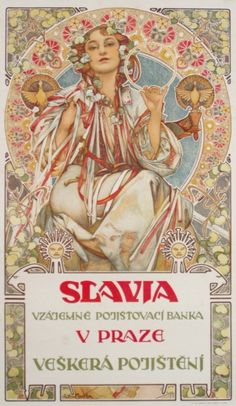 By Alphonse Mucha, ca 1 9 0 7, Slavia.