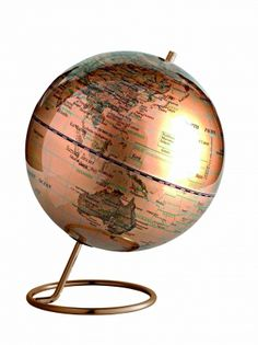 "Copper 10"" Globe :: Globes :: Art and Design :: - Luxury Gifts For Men - The Inside Man"