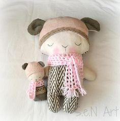 Handmade babywearing soft toy Handmade Cloth Teddy Bear
