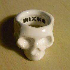 18mm Ceramic Skull Ring