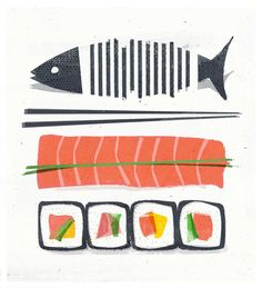 Guest artist: Ship-shape Sushi by Mr. H. For more ofMr. H.'s work you can visit his Weband Tumblr.