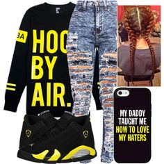 A fashion look from October 2014 featuring Hood by Air t-shirts. Browse and shop related looks.this outf Swag Outfits For Girls, Fall Outfits, Casual Outfits, Cute Outfits, Tomboy Fashion, Dope Fashion, Urban Fashion, Pretty Girl Swag, Model Outfits