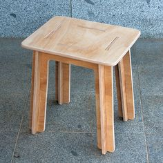 Simple knock down stool made from plywood (flat pack)
