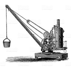 antique construction equipment drawings - Google Search