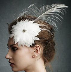 aesthetic #feather and #flower head wear