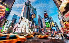 Times Square est un des endroits les plus fréquentés de New-York.