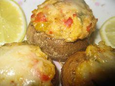 Bariatric Foodie: Recipe Remix: Tilapia Stuffed Mushrooms