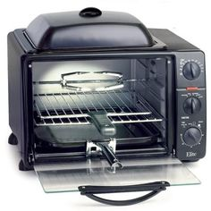 Elite Pro 23-Liter Toaster Oven with Rotisserie & Grill/Griddle Top with Lid - Walmart.com
