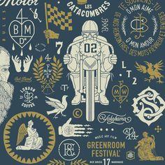 Logos, lettering & prints (1st part) on Behance